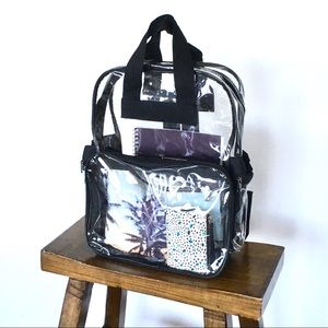 Handbags - Clear See Through Backpack